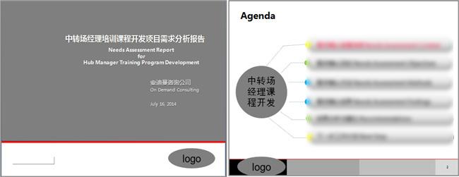 中转场经理课程开发需求分析报告